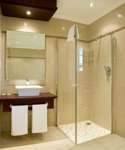 Recent bathroom tiling job in Brisbane