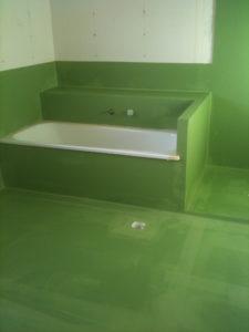 Bathroom waterproofing job in Brisbane